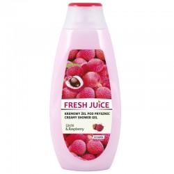 Fresh Juice - kremowy żel pod prysznic, litchi & raspberry, 400 ml
