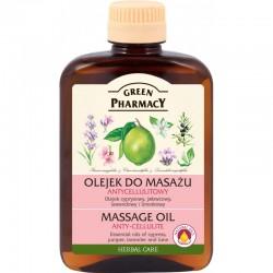 Green Pharmacy Olejek do masażu Antycellulitowy Olejek cyprysowy, jałowcowy, lawendowy i limetkowy 200ml