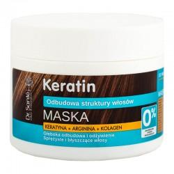 Dr. Santé Maska z keratyną, argininą, kolagenem do włosów matowych i łamliwych. 300 ml