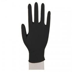 Rękawiczki nitrylowe bezpudrowe CZARNE 100 SZT - S -