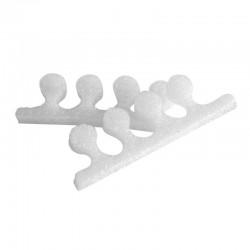 Separatory piankowe do pedicure 10 szt białe